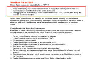 Who Must File an FBAR