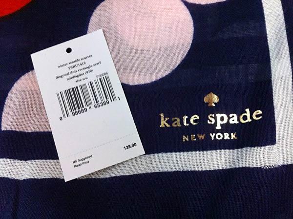 Kate Spade スカーフ 値段
