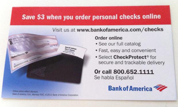 アメリカで小切手を注文