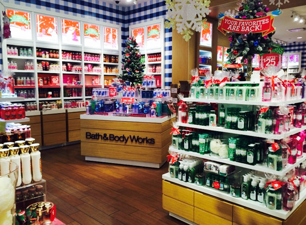 Bath and Body Works 店内の様子