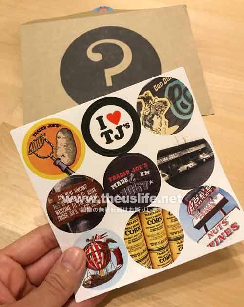 トレーダージョーズ50周年記念シールと封筒