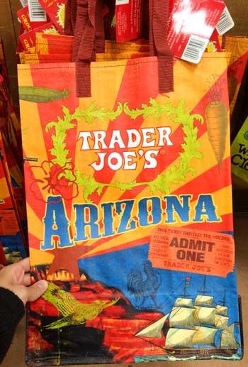 トレーダージョーズのエコバッグ アリゾナ州限定版