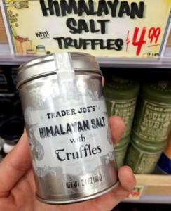 トレーダージョーズのヒマラヤントリュフ入りソルト(塩)