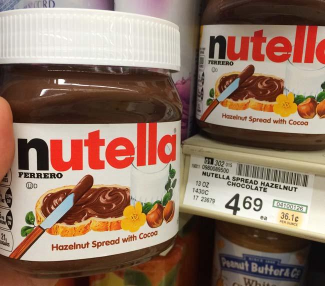 アメリカのスーパーで買えるお土産ランキング!写真はアメリカでも人気の「ヌテラ」