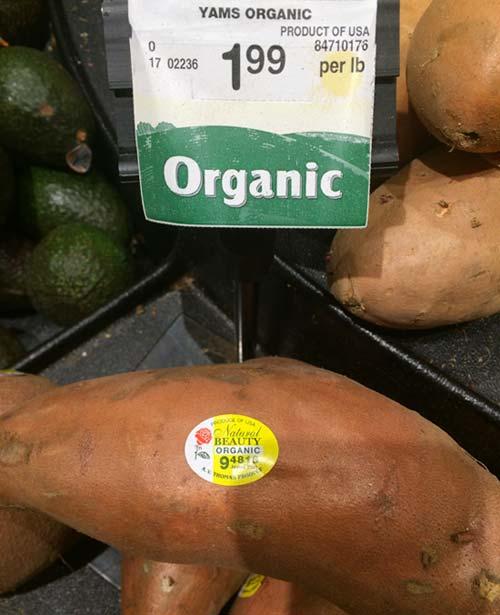 体を温める食べ物、アメリカのサツマイモ(Yam)