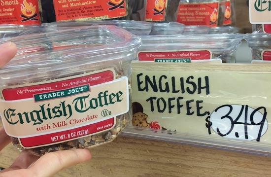 トレーダージョーズのお菓子(チョコレート、トフィー)