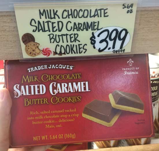 トレーダージョーズのお菓子(salted caramel butter cookies))