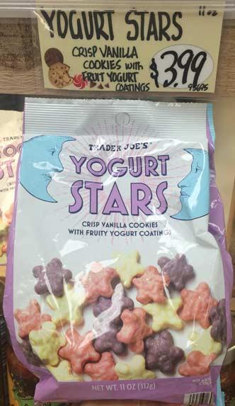 トレーダージョーズのお菓子(Yogurt stars)