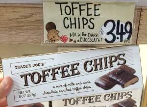 トレーダージョーズのお菓子(Toffee Chips)