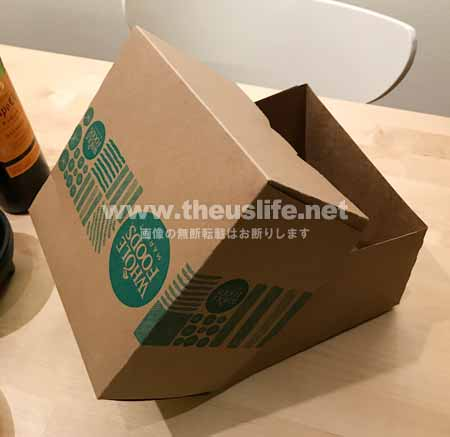 ホールフーズのケーキの箱