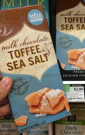 ホールフーズマーケットの塩キャラメルチョコレート