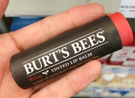 Burtsbees Tinted Lip Balm(ローズ)