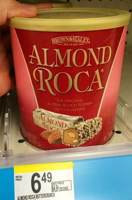 アメリカのドラッグストアで買えるお土産(アーモンドロカキャンディー)
