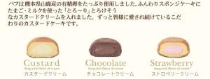 熊本のお土産ランキング1位:カスタードケーキ