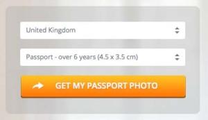 イギリスのパスポート用写真サイズ