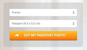 フランスのパスポート用写真サイズ