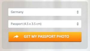 ドイツのパスポート用写真サイズ