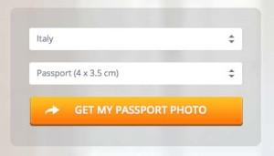 イタリアのパスポート用写真サイズ