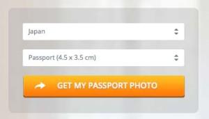 日本のパスポート用写真サイズ