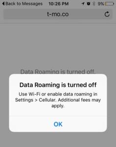 T-Mobileの海外ローミングの使い方