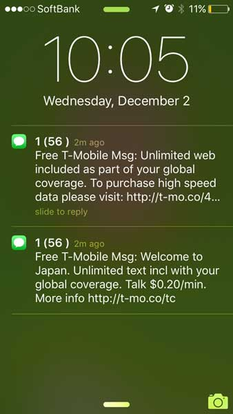 T-mobileの海外ローミングは無料で超オトク!