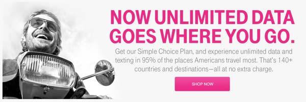 T-mobileの海外での利用