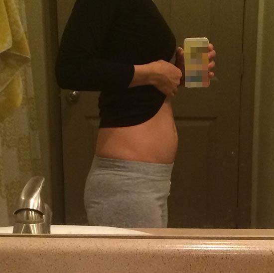 妊娠9週目のお腹の大きさ、写真