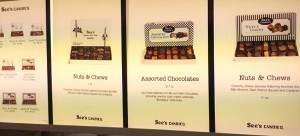 ロサンゼルス国際空港内のお土産売り場 See's Candies