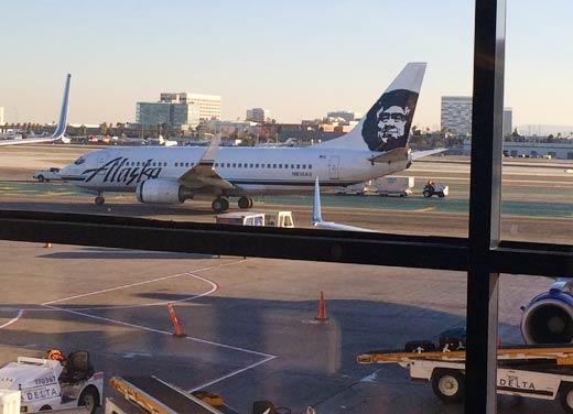 アラスカン航空の機体