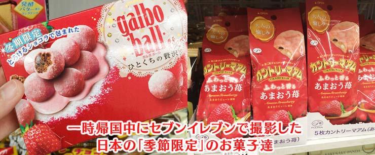日本の季節限定お菓子