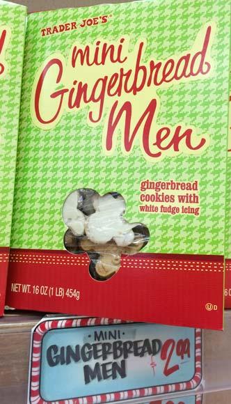トレーダージョーズの季節限定お菓子(ジンジャークッキー)