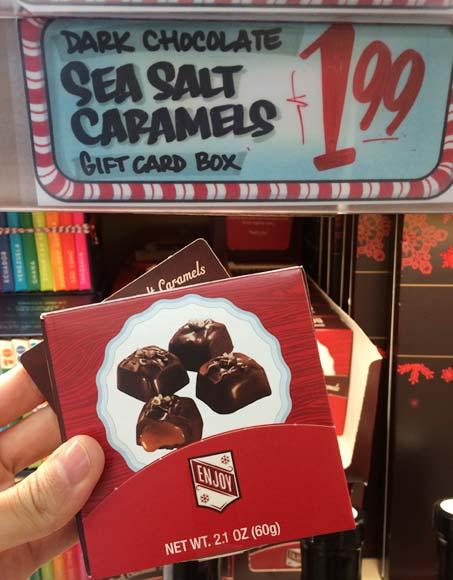 トレーダージョーズの季節限定お菓子(メッセージカード付きのチョコ)