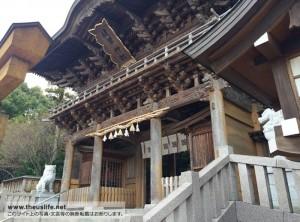 健軍神社 斜めからの写真