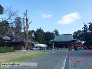 健軍神社の境内(正面)