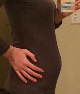 妊娠13週のお腹の大きさ