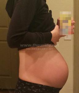 妊娠29週+5dのお腹の大きさ