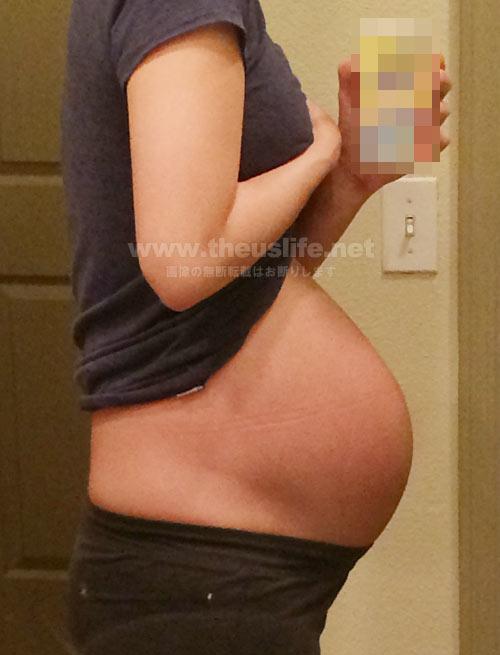 妊娠32週+3dのお腹の大きさ