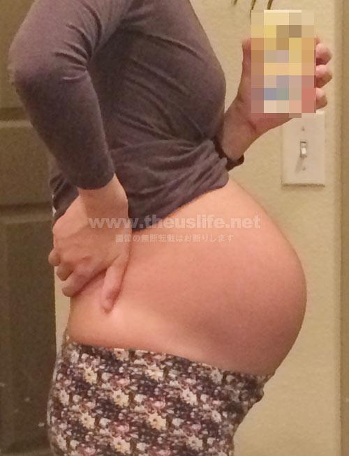 妊娠33週+4dのお腹の大きさ