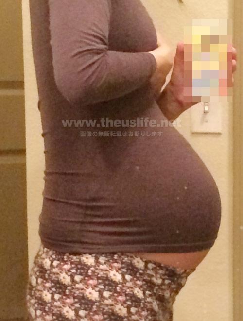 妊娠33週+6dのお腹の大きさ