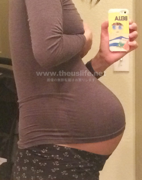 妊娠37週+4dのお腹の大きさ