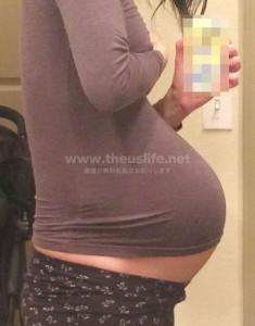 妊娠38週+4dのお腹の大きさ