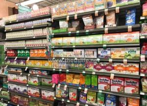 Wholefoodsのスーパーの離乳食売り場