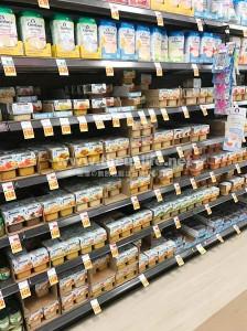 アメリカのスーパーの離乳食売り場