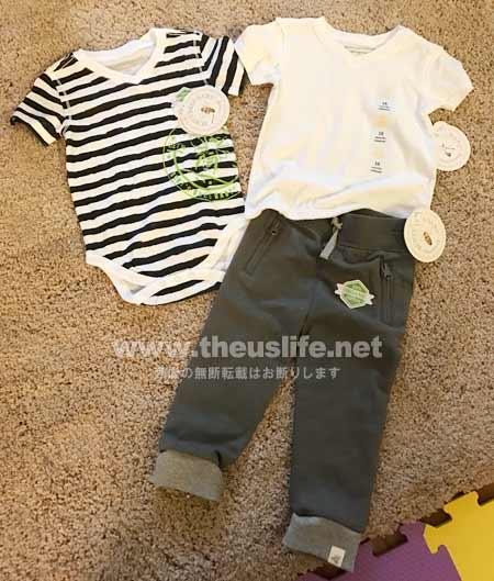 Burt's Bees Baby のベビー服上下(Tシャツとパンツ)