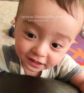 生後十ヶ月の赤ちゃん(日米ハーフ)