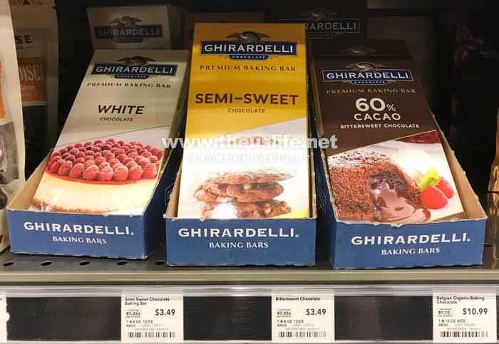 Ghirardelli(ギラデリ)のベーキングに使用するチョコレート類