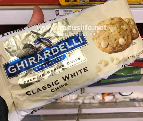 Ghirardelli(ギラデリ)のベーキング用ホワイトチョコレートチップ