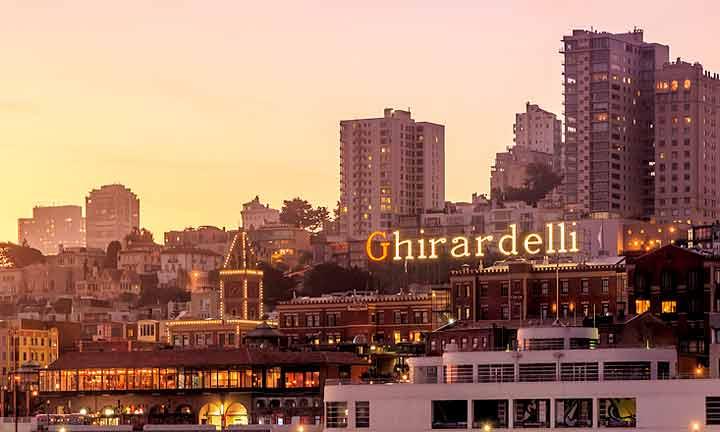 サンフランシスコのGhirardelli(ギラデリ)スクウェア