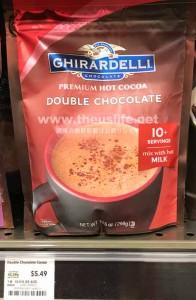 ギラデリのダブルチョコレートココアのパッケージ