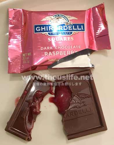 Ghirardelli(ギラデリ)ラズベリー味の中身